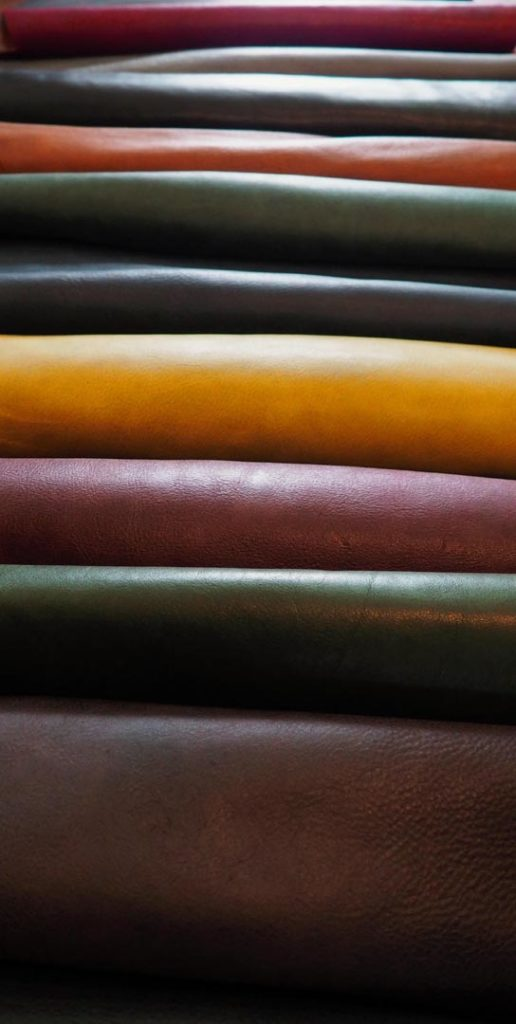 Stack of leathers