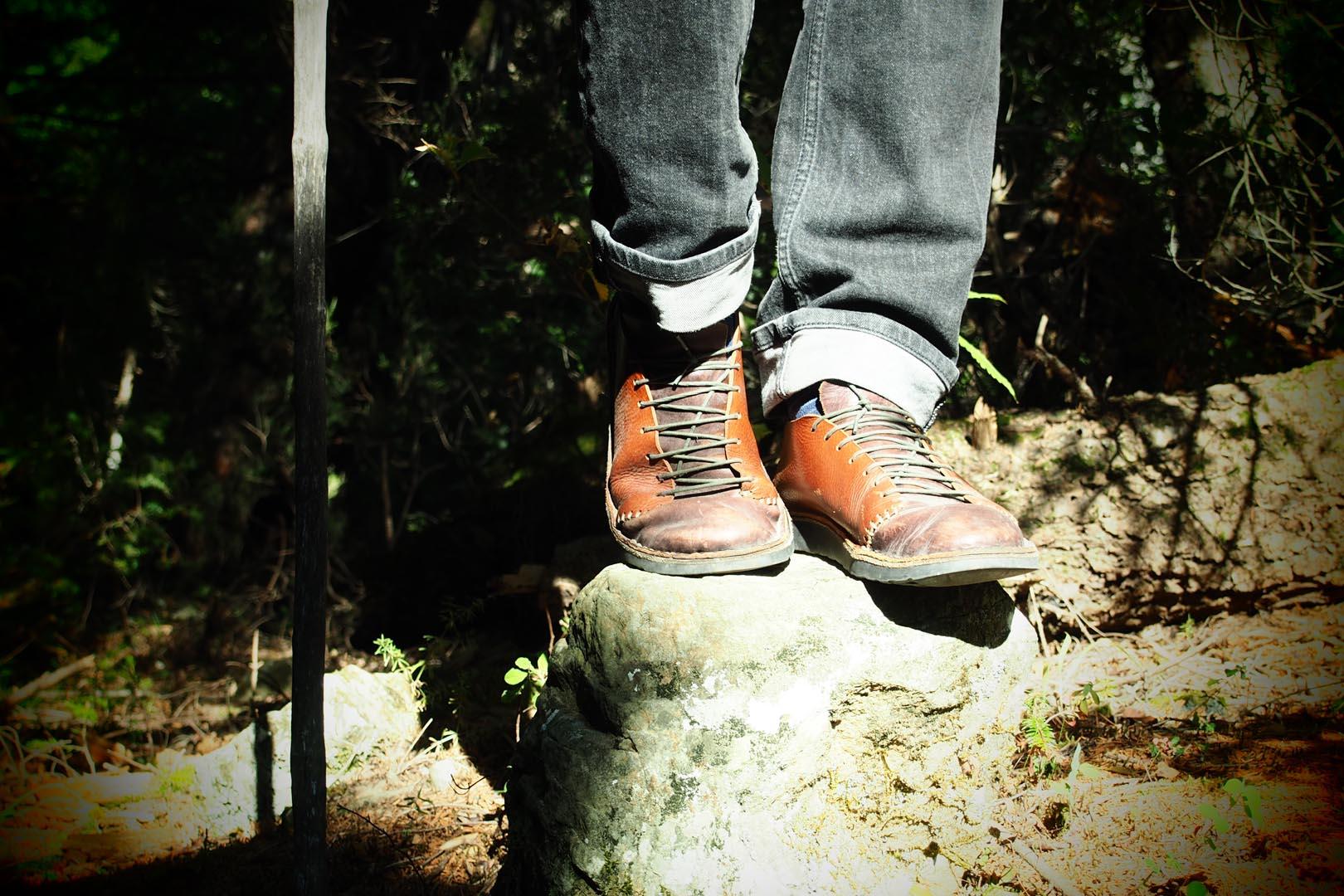 Rokanidi shoes on a rock