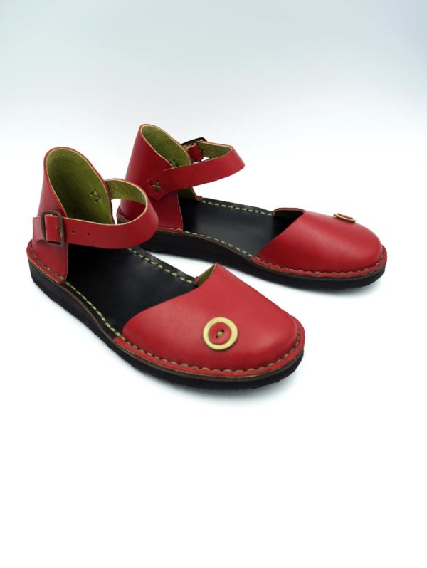 Closed sandal handmade leather shoes
