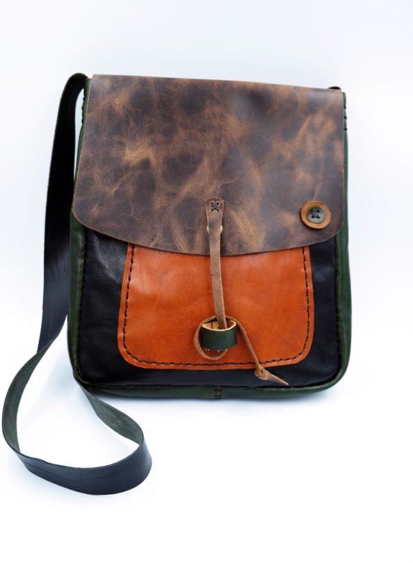 handmade leather bag