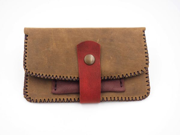 handmade leather long clutch