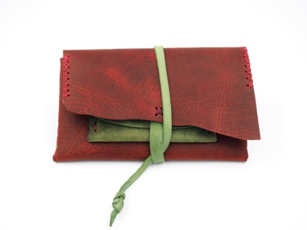 handmade leather pouch